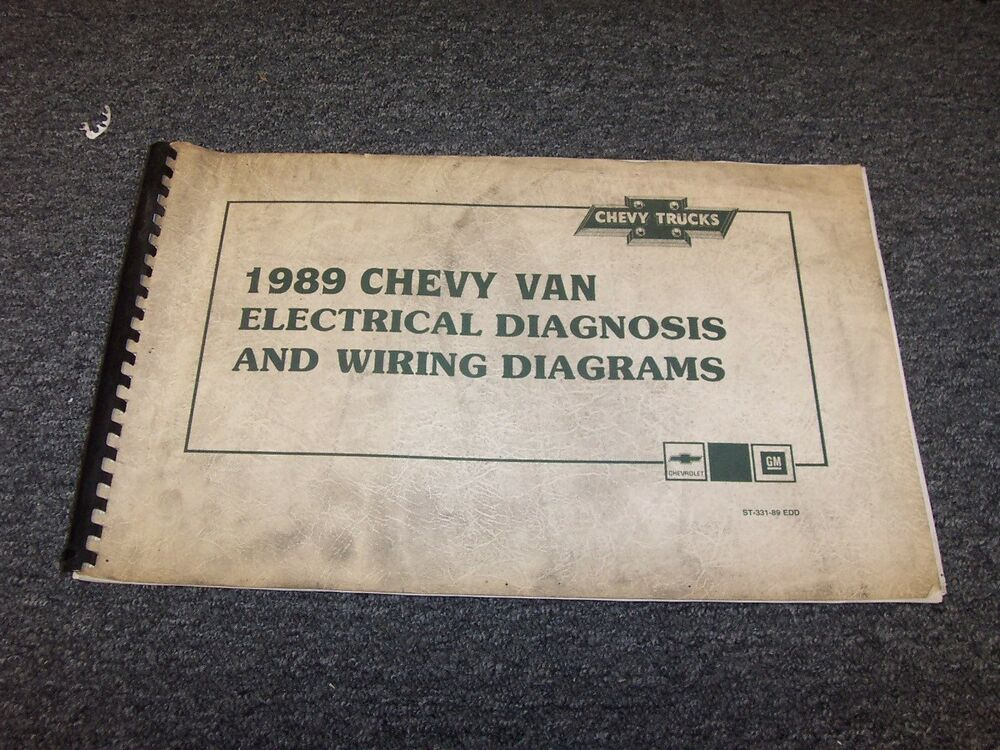 1989 Chevy G10 G20 G30 G-Van Sportvan Factory Electrical ...