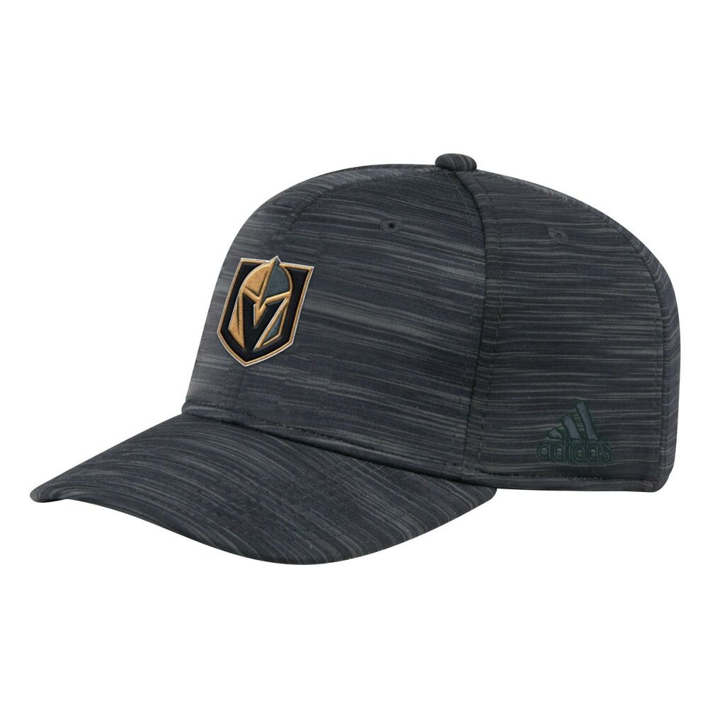 97467a02d5a Details about adidas Vegas Golden Knights NHL Structured Heathered Black  Span Flex Cap