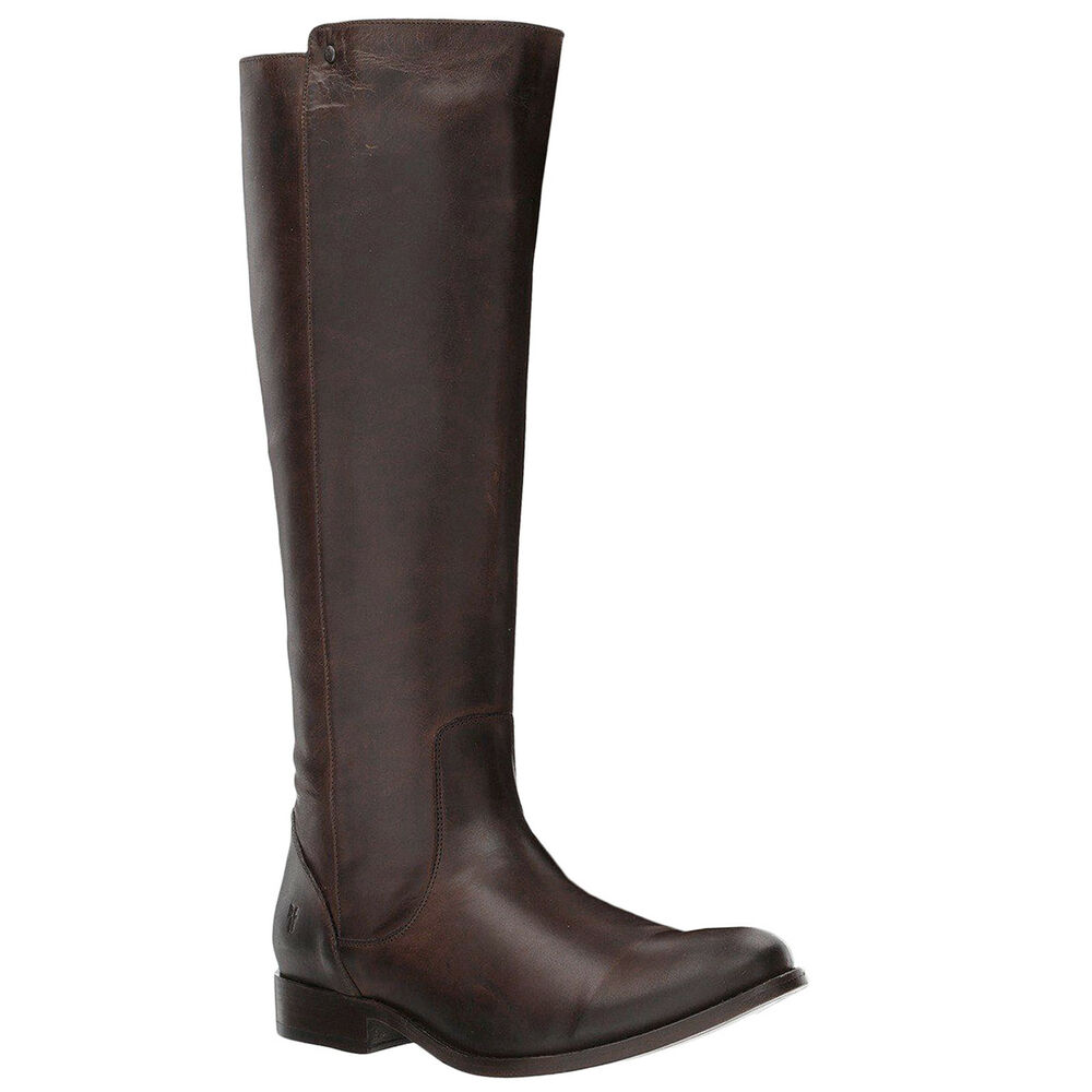 5942a7634da Details about Frye Melissa Stud Back Zip Leather Casual Knee-High Tall  Womens Boots