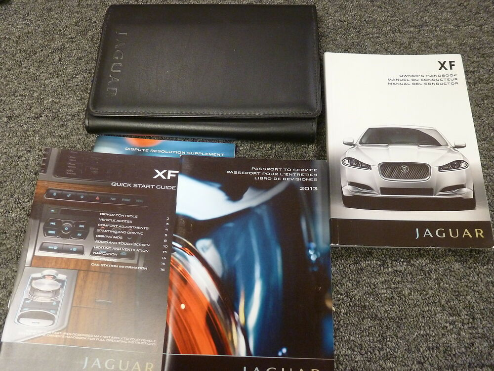 2013 jaguar xf sedan owner owner's manual 14t supercharged xfr xfr-s
