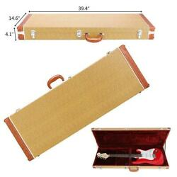 Kyпить New Protable ST Electric Guitar Square Hard Case w/ Hardware & Lock Yellow на еВаy.соm
