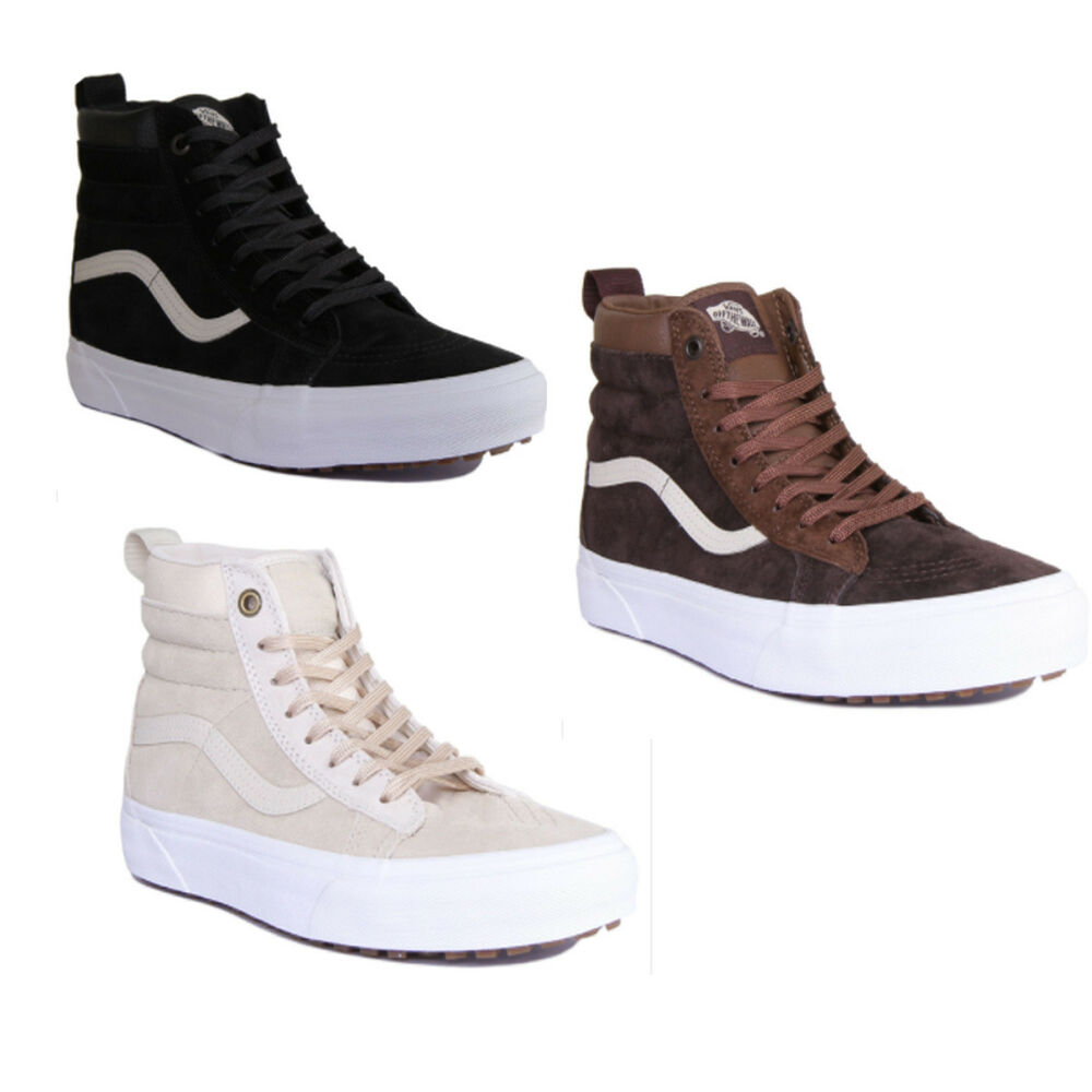 a2eff4c354 Details about Vans SK8 HI MTE Men Suede Leather Black Night Trainers Size  UK 6 -12