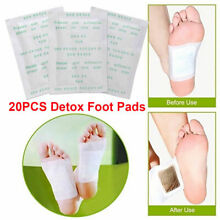 Natural Plant Toxin Removal Herbal Detox Foot Pads Patch 100x Sticky Adhesives