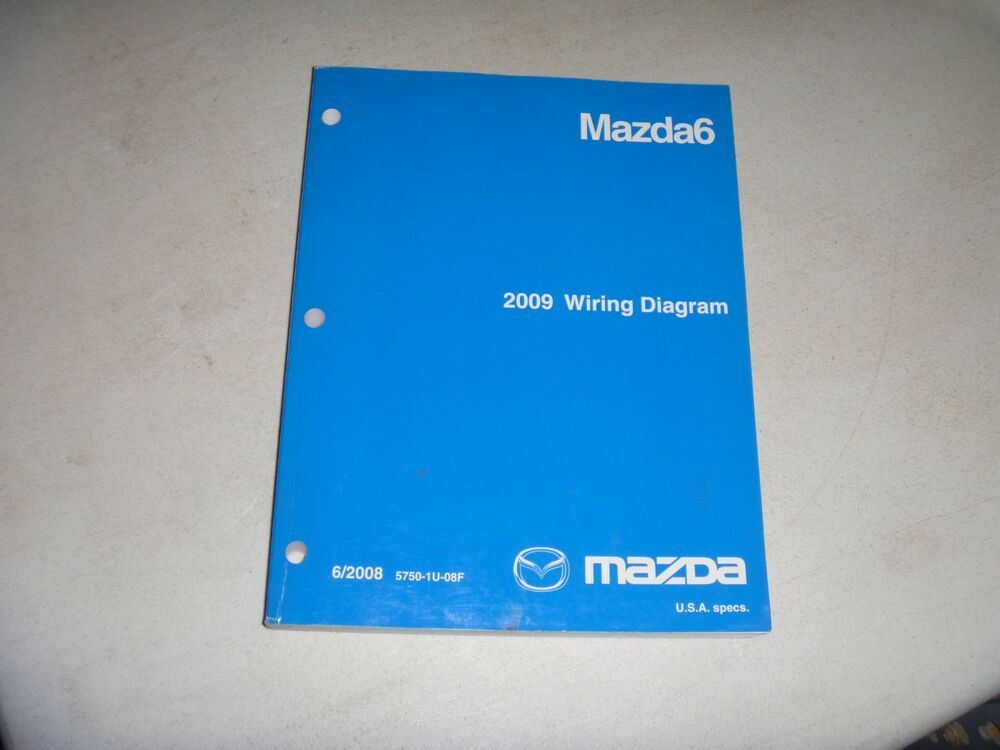 2009 Mazda 6 Mazda6 Electrical Wiring Diagram Manual I S Sv Sport Grand Touring
