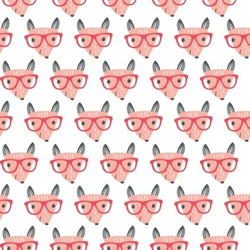 Quilter's Palette Good Night Forest 12610 White Fox Glasses Cotton Fabric