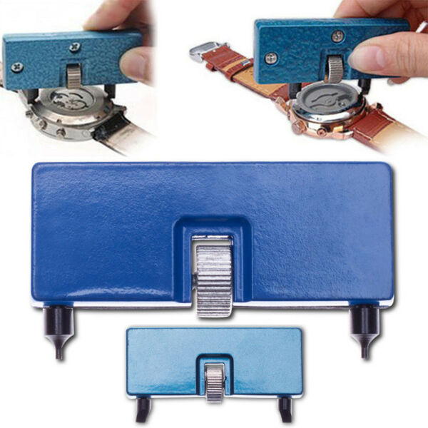 Watch Back Case Cover Remover Opener Wrench Repair Kit Tool Adjustable Rectangle