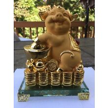 Chinese Feng Shui Lucky Money Wealth Pig Statue 2019