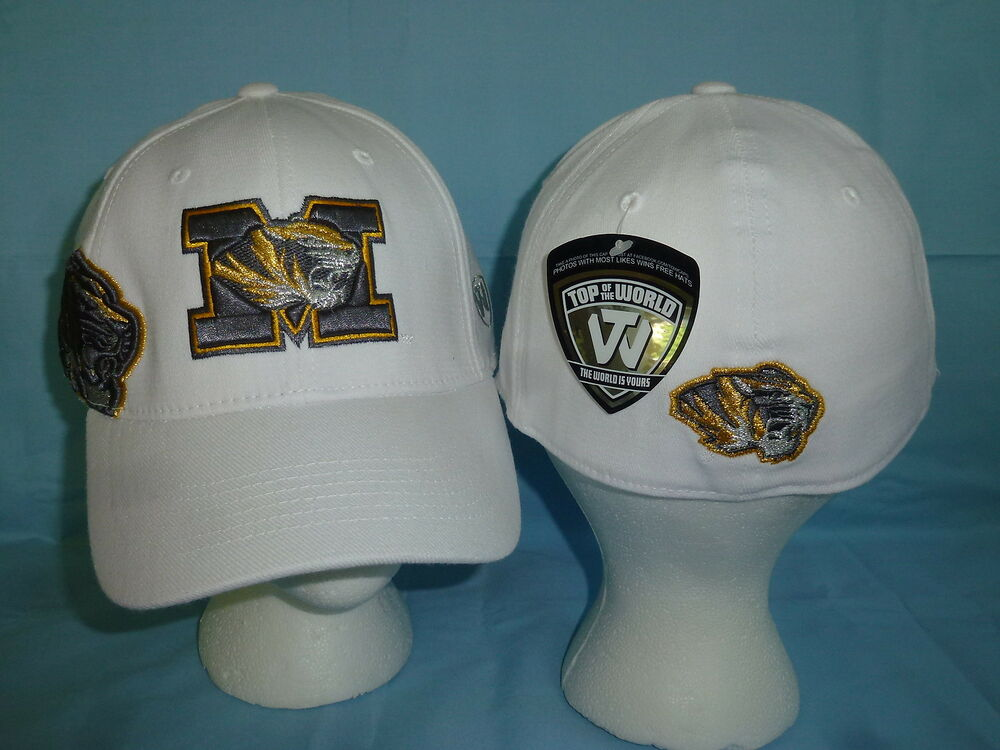 pretty nice 04d9c 799ae Details about MISSOURI TIGERS Molten White CAP HAT T.O.W. size Large XL NWT   28 retail