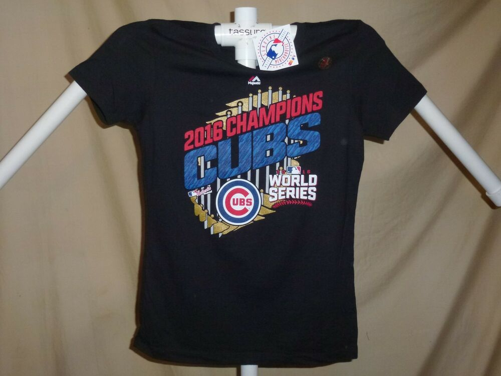 5125961e8c1 Details about CHICAGO CUBS 2016 World Series CHAMPIONS Parade T-SHIRT  Womens Large NWT