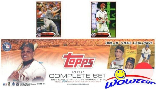 2012 Topps Baseball 667 Card Factory Set-2 BRYCE HARPER RC+Wille Mays REFRACTOR