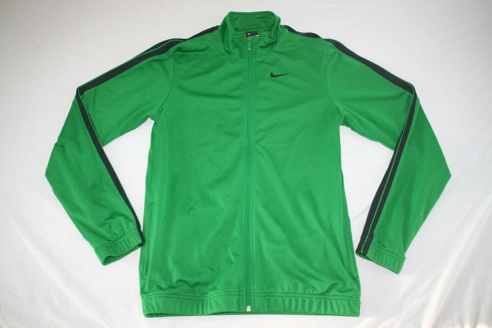 Details about Nike Sweat Athletic Jacket Lined Men M Green NEW c0743b50b