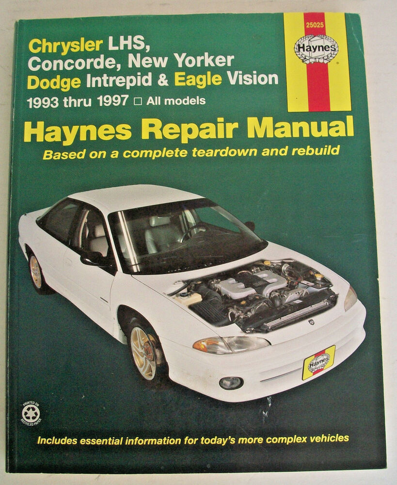 Haynes Manuals: Haynes Chrysler LHS, Concorde, New Yorker-Dodge Intrepid  and Eag 9781563923166 | eBay