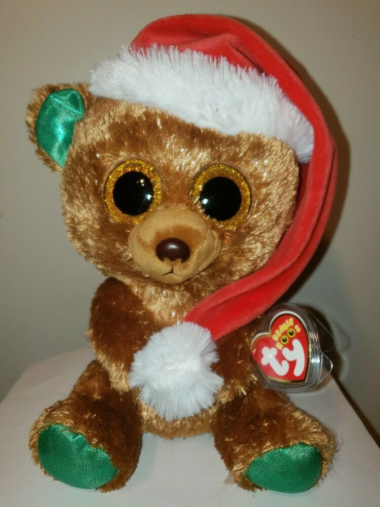 1be1eae9631 Details about Ty Beanie Boos - NICHOLAS the Christmas Bear 8-9