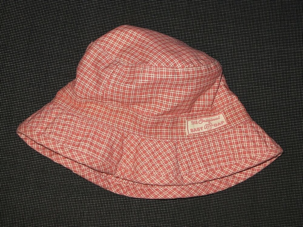 642198896fa Details about BABY GAP PINK PLAID COTTON SUN BUCKET LINED HAT GIRL S SIZE  6-12 MONTHS MOS.