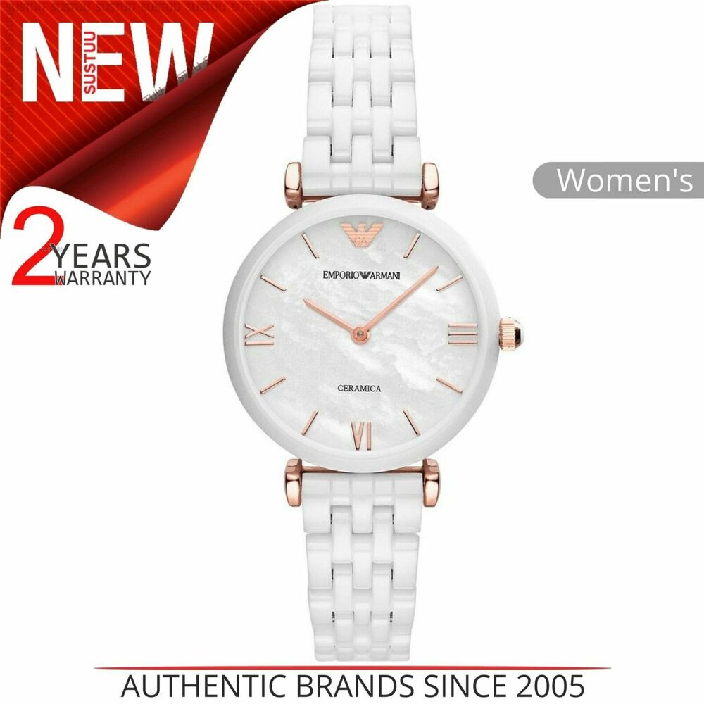 Details about Emporio Armani Ceramica Ladies Watch│Mother of Pearl Dial│ Ceramic Strap│AR1486 4efb2f2742