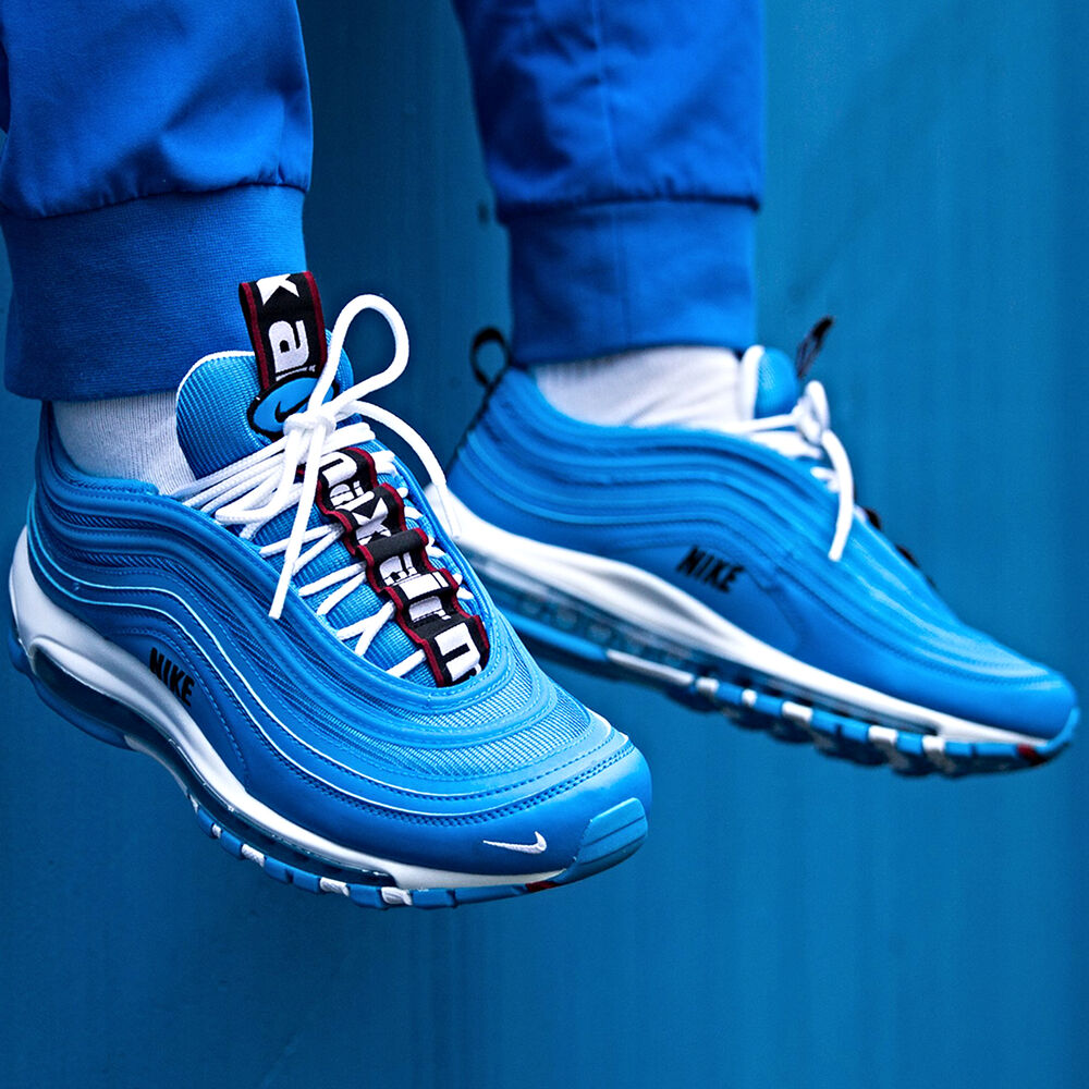 0f90f910ff Details about Nike Air Max 97 Premium 'Blue Hero' Size 7 8 9 10 11 12 13  Mens Shoes 312834-401
