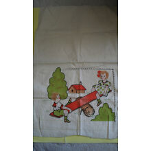 Vintage Children on See Saw Unfinished Crib Pillow