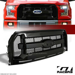 Kyпить For 2015-2017 Ford F150 Glossy Black Factory Honeycomb Mesh Front Bumper Grille на еВаy.соm