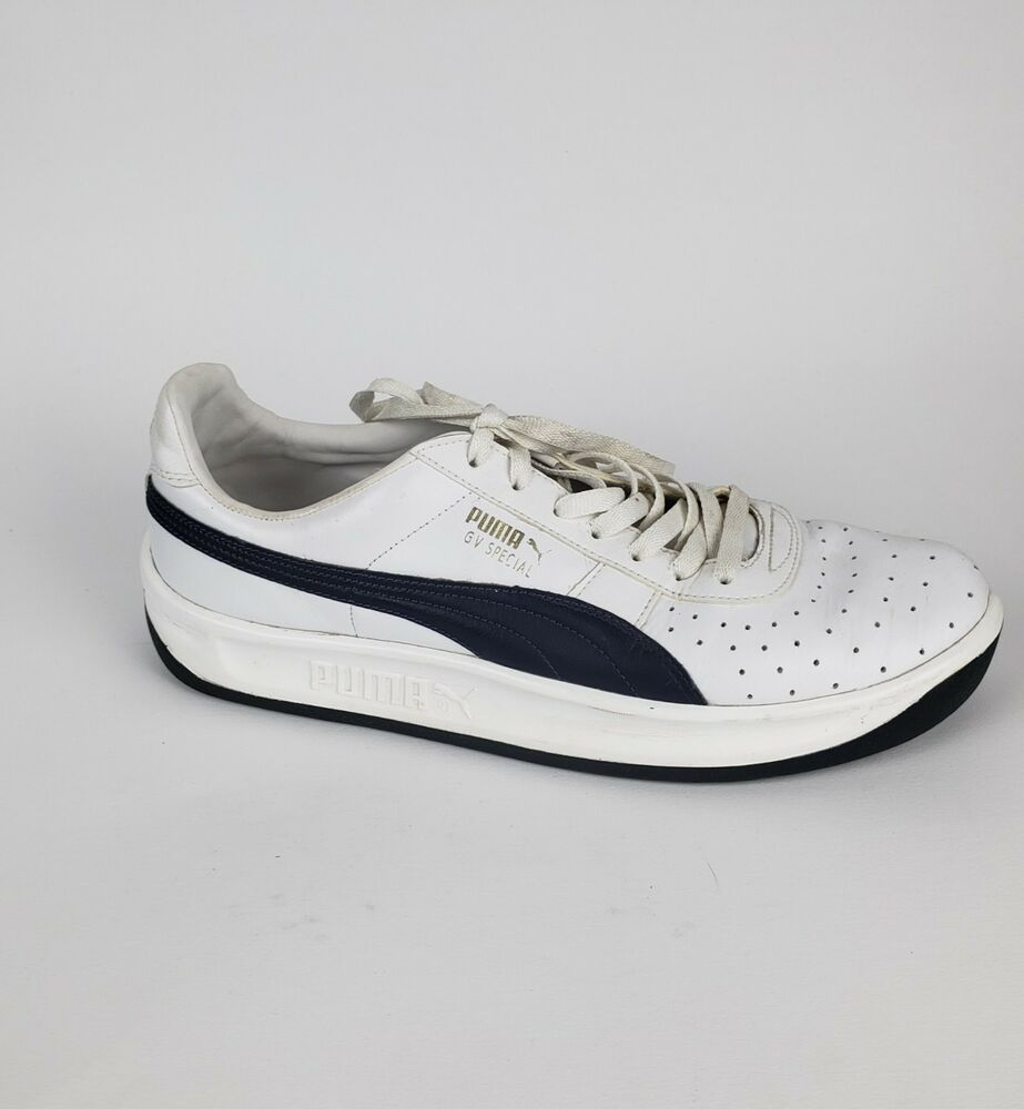 6fd2ac24991f Details about Puma GV Special Mens Size 11 White Navy Leather Casual Lace  Up Sneakers Shoes