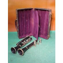 Collectible Clarinet Case and Miscellaneous Parts