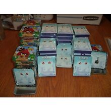 ANGRY BIRDS - EARRINGS AND NECKLACE LARGE LOT - 54 PACKAGES/TINS