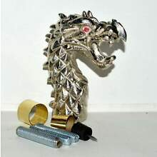 New Victorian Nickle DRAGON head Chrome Handle For Walking Stick Cane Antique