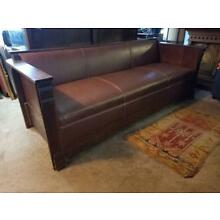 Antique Arts and Crafts - Mission Oak Couch - Sofa