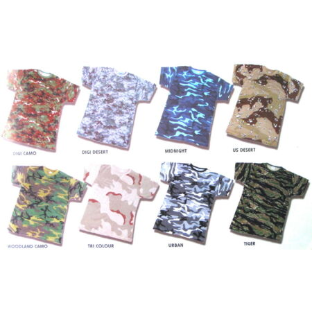 img-MILITARY CAMO SHORT SLEEVE T SHIRT / CAMOUFLAGE ARMY COMBAT