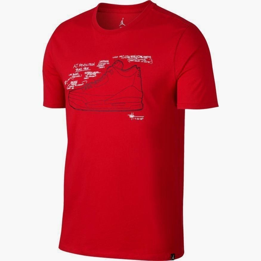 bf7df4aec67 Details about $35 MEN'S NIKE AIR JORDAN AJ 3 SKETCH TEE T-SHIRT RED  AO8937-657 XL X-LARGE NWT