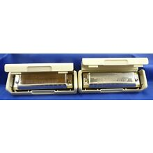 2 HOHNER GERMANY BIG RIVER HARMONICAS IN THE BOXES  F & G    # 321