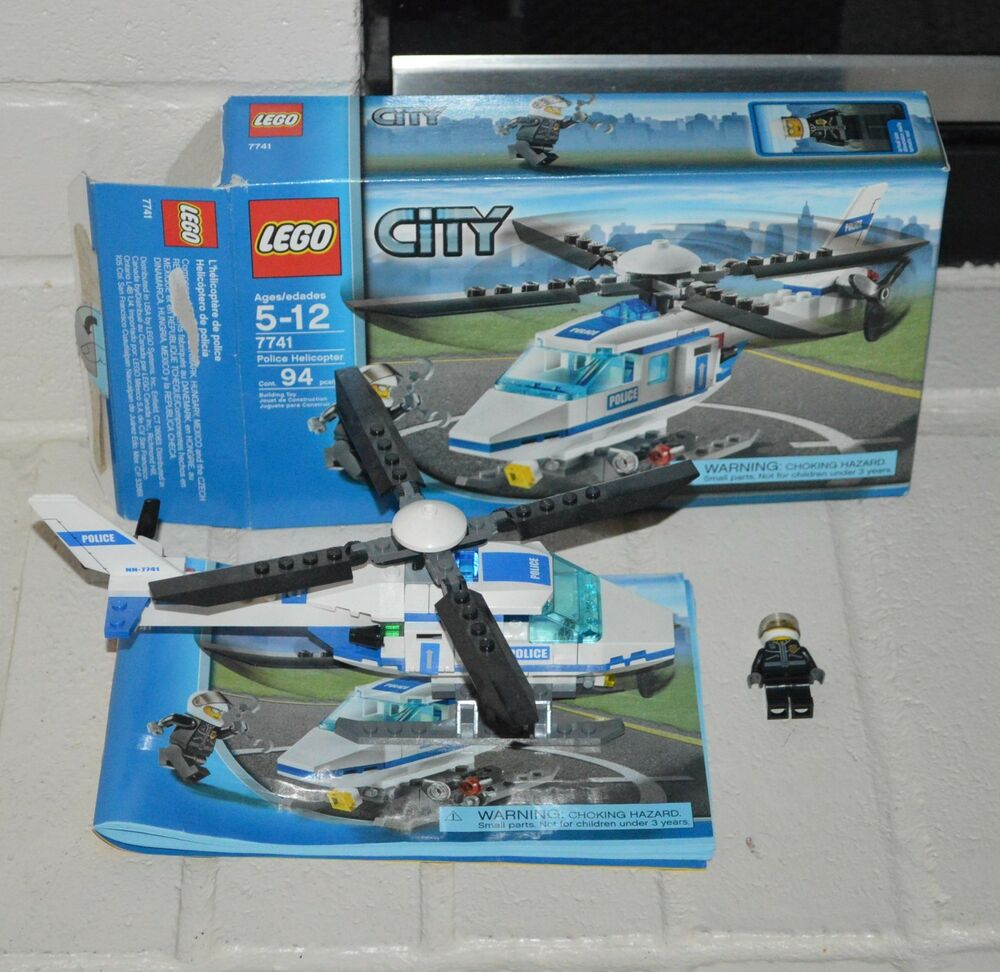 Lego City Police Helicopter 7741 100 Complete With Instructions