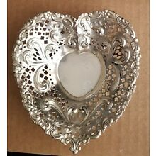 Gorham Chantilly Sterling Silver Heart Shaped Candy Trinket Dish  #966 FREE SHIP