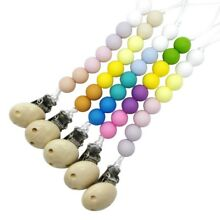 Pacifier Teething Silicone Baby Kids Teether Chain Clip Bead Dummy Holders USA