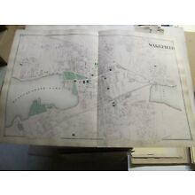 1875 WAKEFIELD, MA., MAP, MIDDLESEX COUNTY, A NICE CLEAN VINTAGE MAP