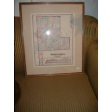 Springfield Township Framed Map Montgomery County Vintage