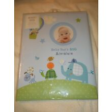 Stepping Stones Baby's First Memory Baby Boy Turtle Dog Ball Photo Memory Book