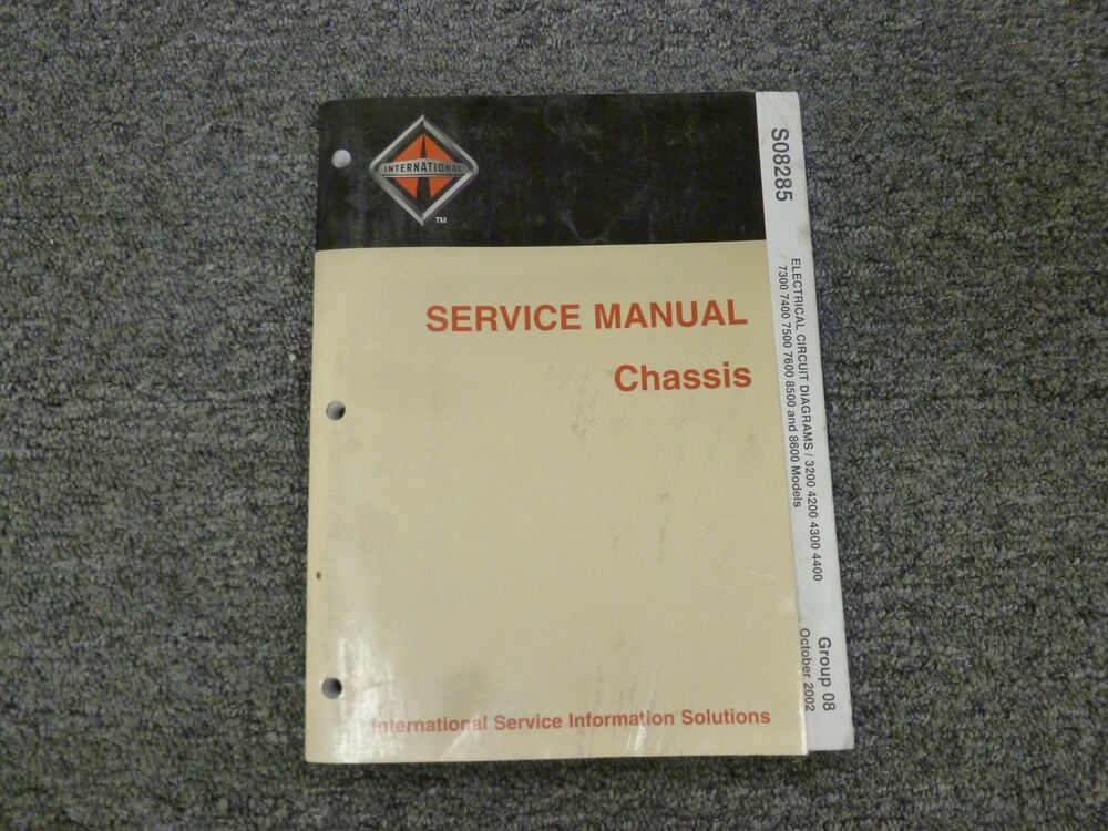 details about 2002-2003 international 4200 4300 4400 truck electrical  wiring diagram manual