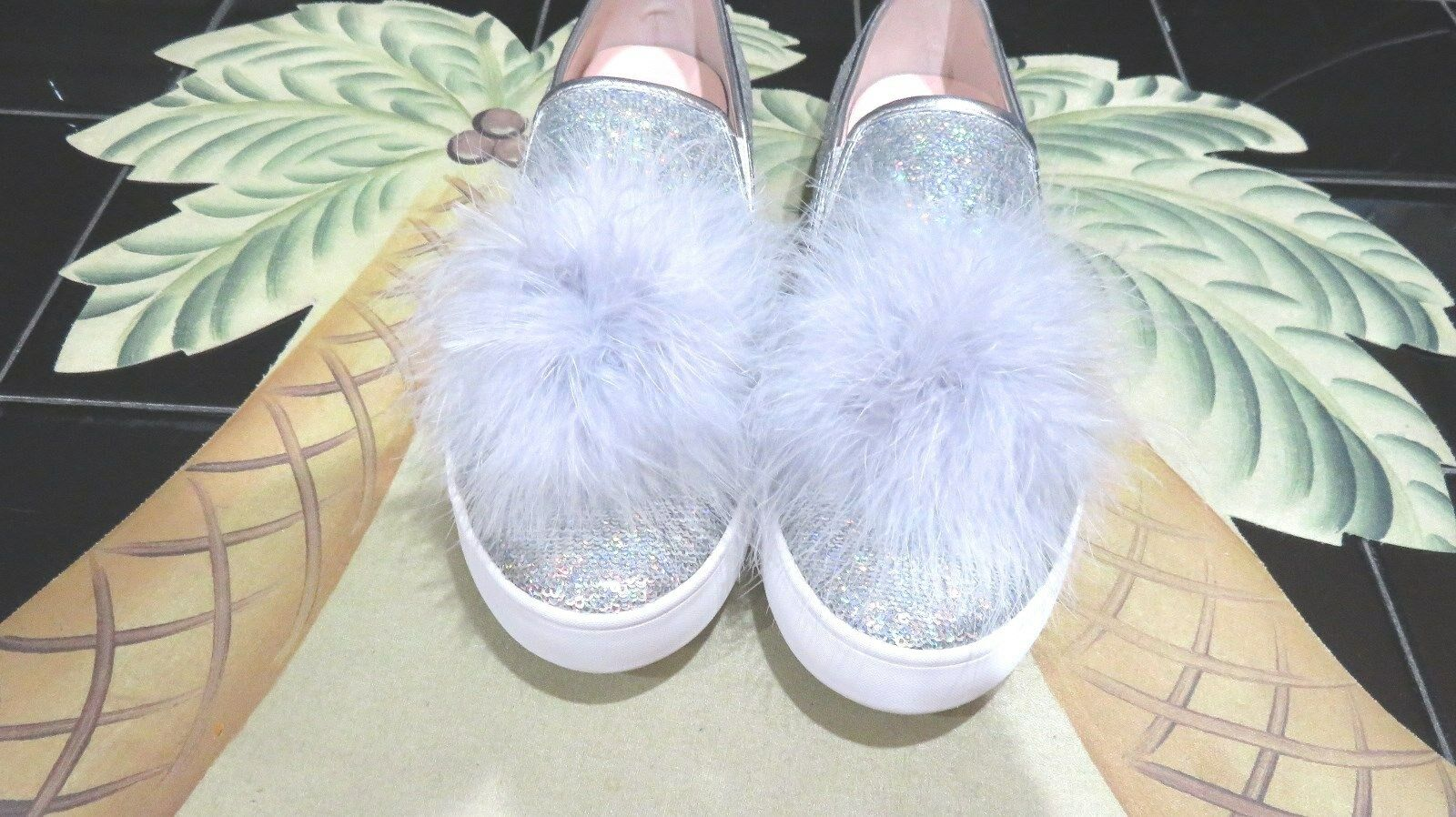 fb5befd0c131 ... UPC 888445959035 product image for Kate Spade Latisa Slip On Sneakers  Shoes Silver Sequin Size 8