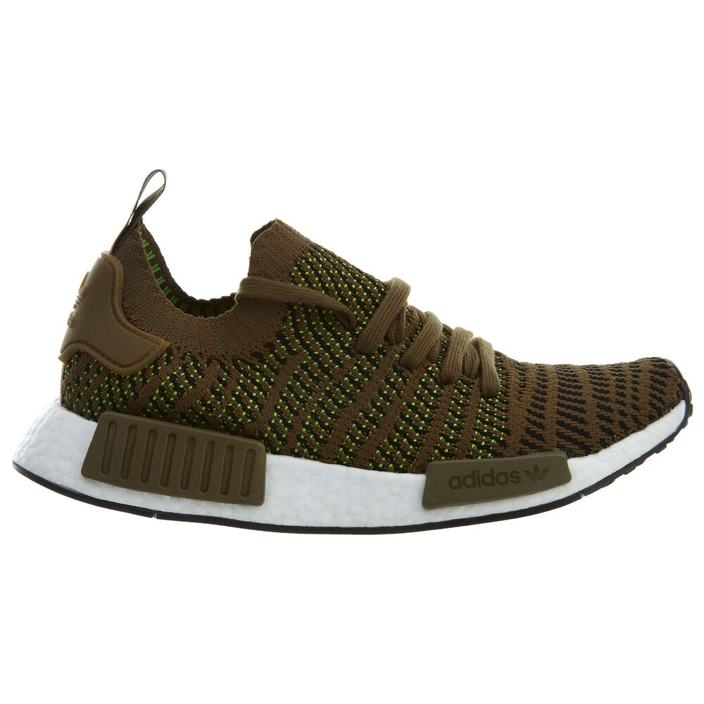 b7578afb8 Details about Adidas NMD R1 STLT PK Mens CQ2389 Olive Slime Primeknit  Running Shoes Size 8
