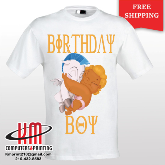 Details About Baby Hercules Custom T Shirt PERSONALIZED Birthday