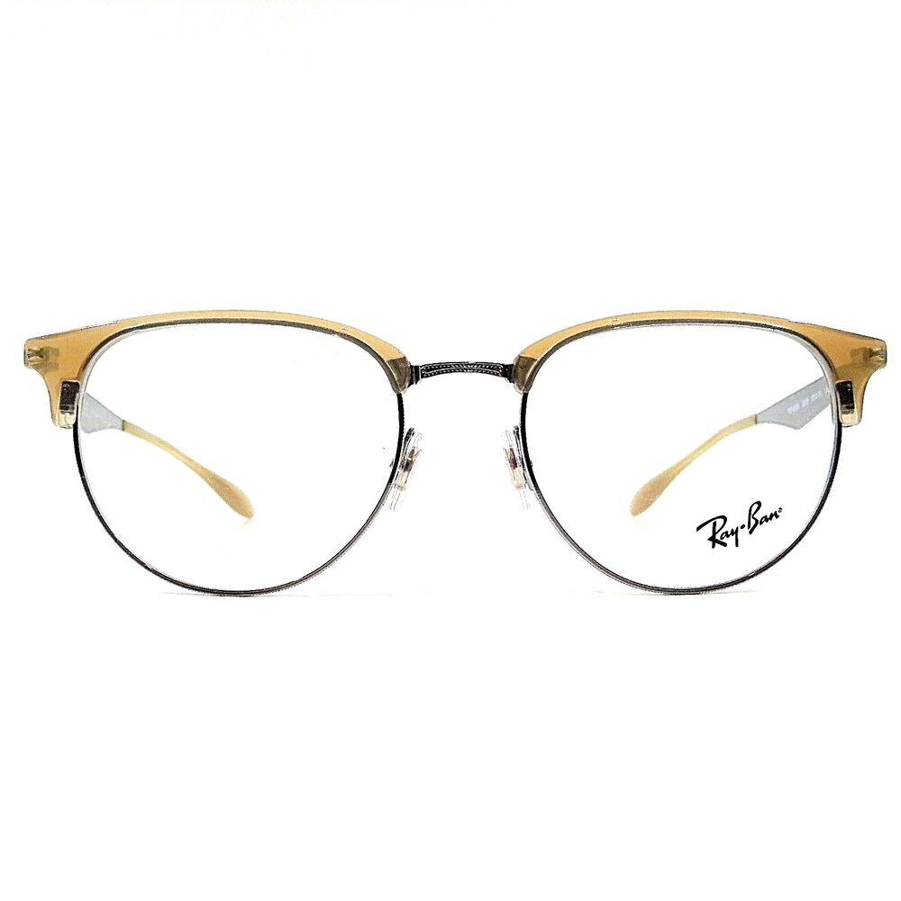 98940cdcb4 Details about New Ray Ban Optical Eyeglasses RX Frame RB 6396 2935 Beige  Gunmetal 51-19-140