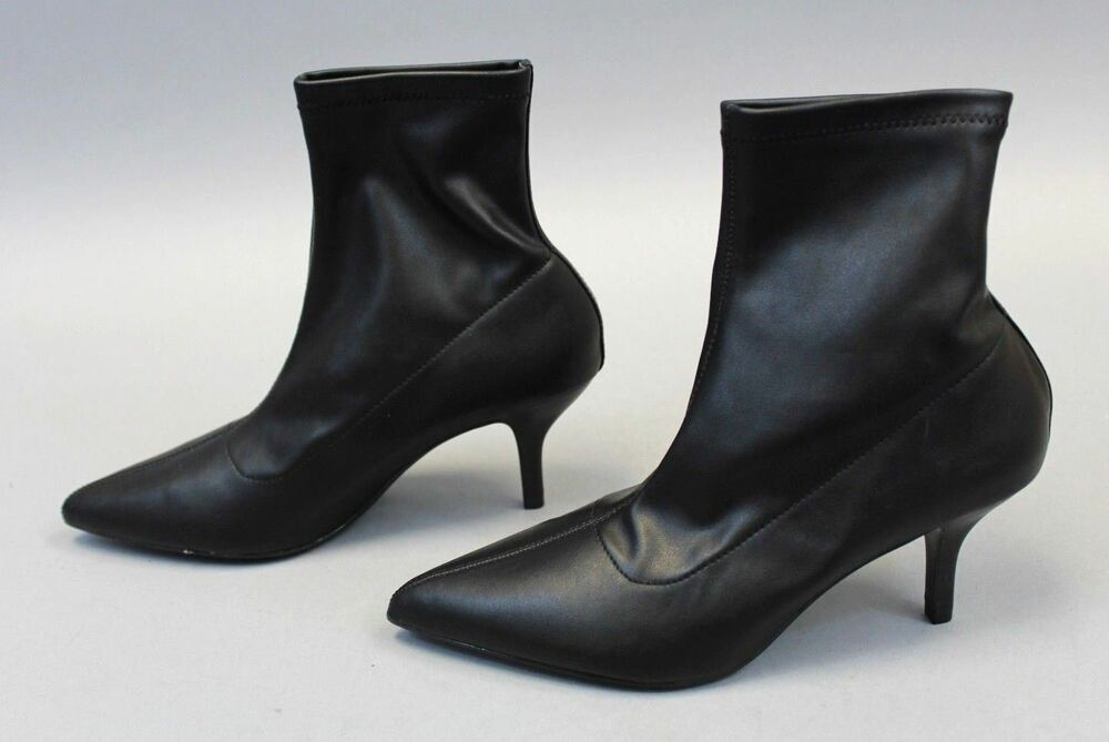 Details about Mango Women s MNG Pointed Heel Ankle Boots TW4 Black Size  UK 5 US 7.5 618c5a985
