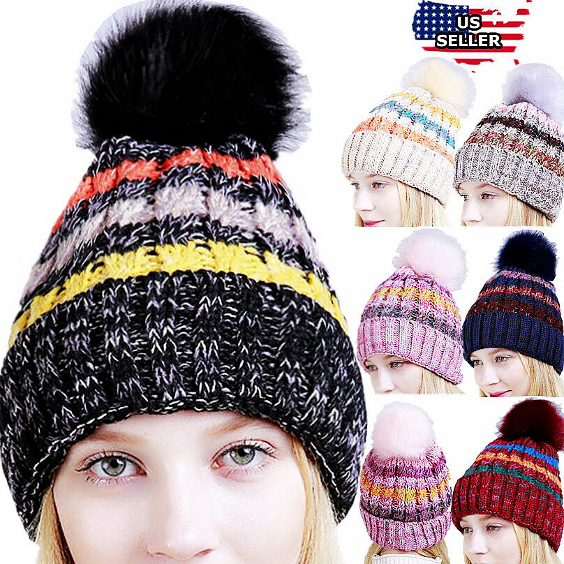 Details about Women Men Winter Spring Crochet Knit Slouchy Beanie Beret Cap  Slouch Ski Hats US 1c97f342154
