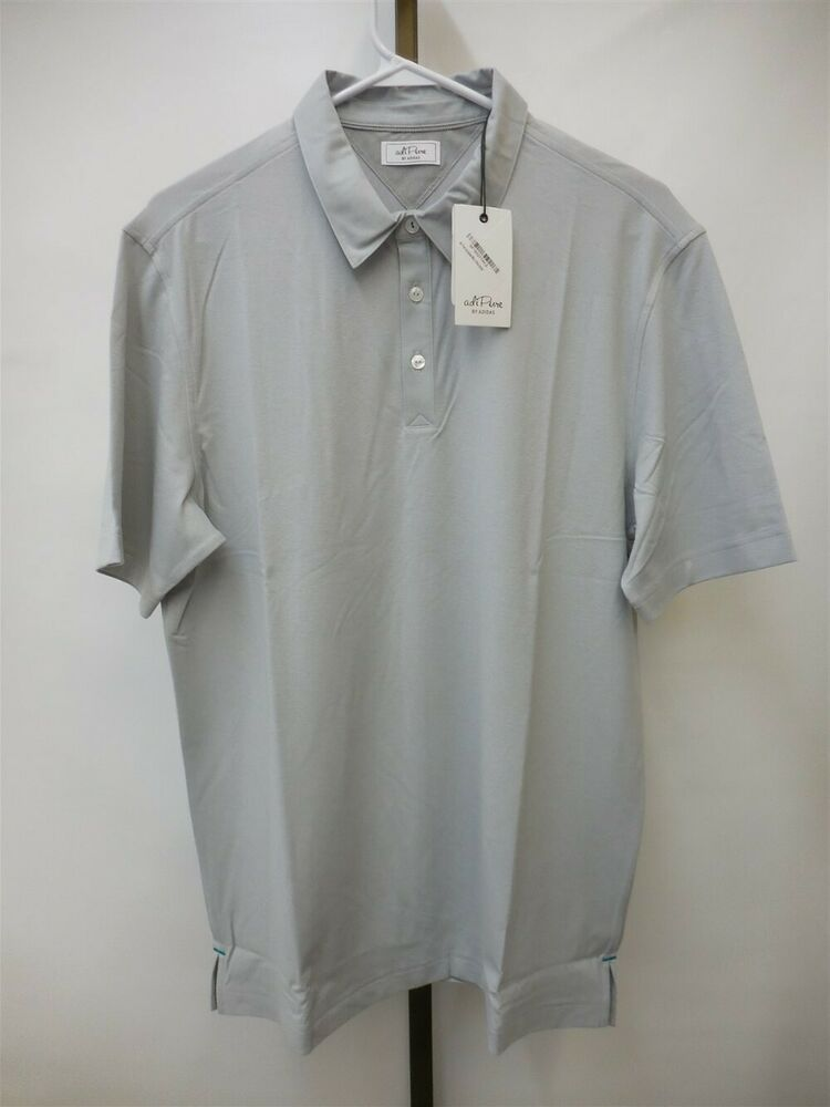 e5758405 Details about NWT Men's Adidas Golf Adipure Classic Polo Gray BC1979, Size  Medium