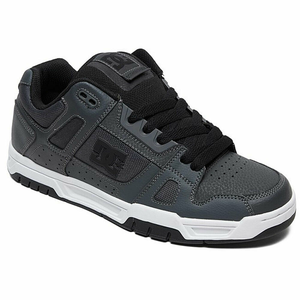 3910dccb1fd0c Details about DC Shoes Men s Stag Low Top Sneaker Shoes Dark Gray Skate  Casual Footwear