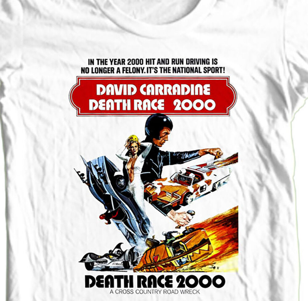 164dc3a85 Death Race 2000 T-shirt retro 1970s vintage movie cotton graphic tee | eBay