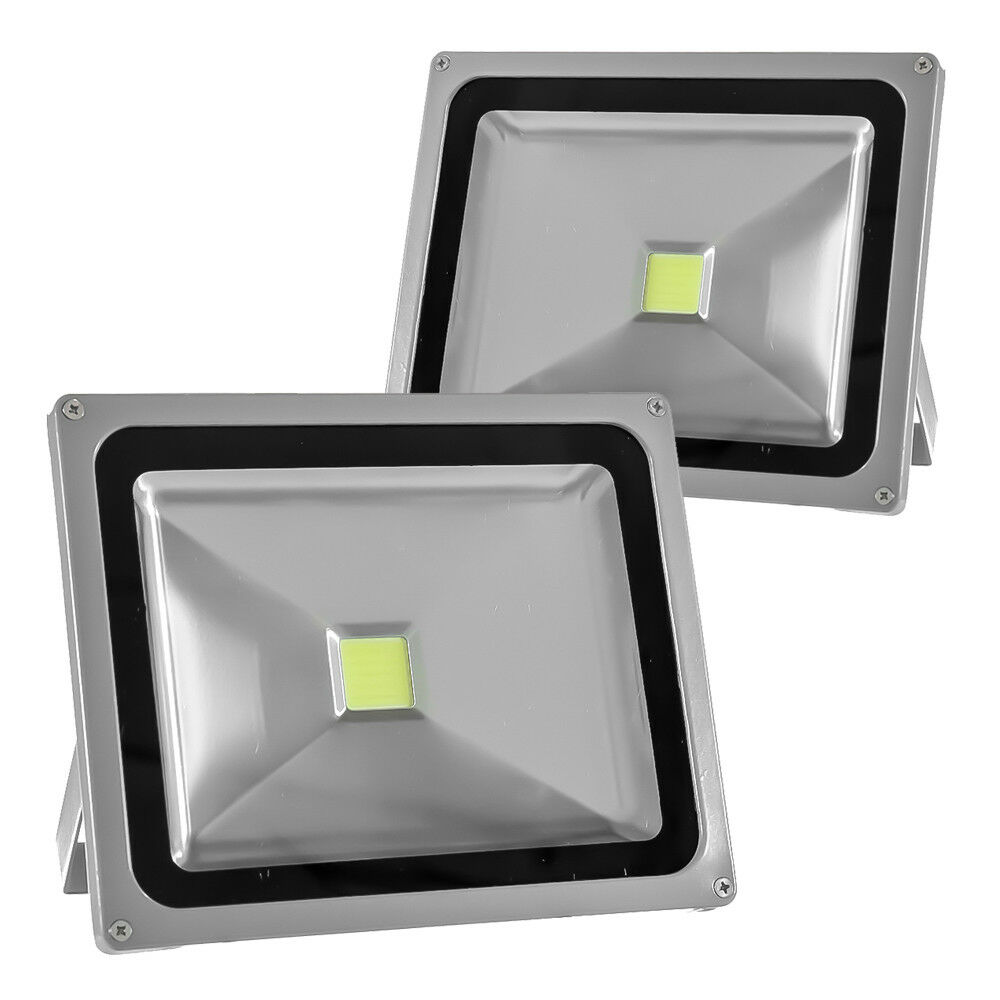 Details About 2pack 50w 120v Led Flood Light Outdoor Garden Security Lamp Spotlights White