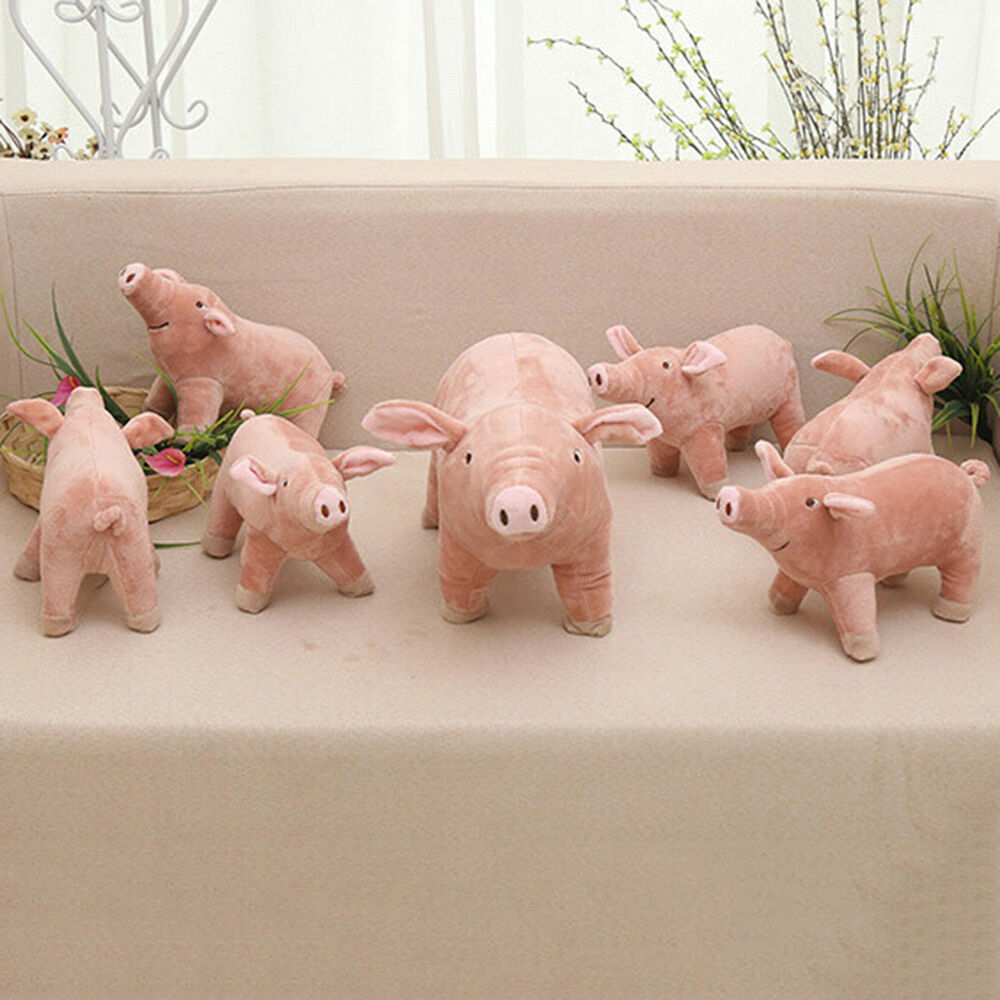 1pc 25cm Cute Cartoon Pig Plush Toy Stuffed Animal Pig For