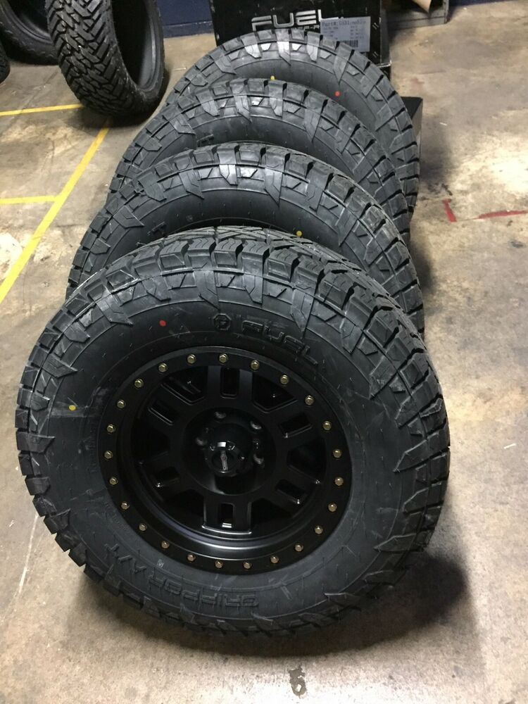 """17x8.5 Vision 398 Manx 33"""" Fuel AT Wheel & Tire Package ..."""