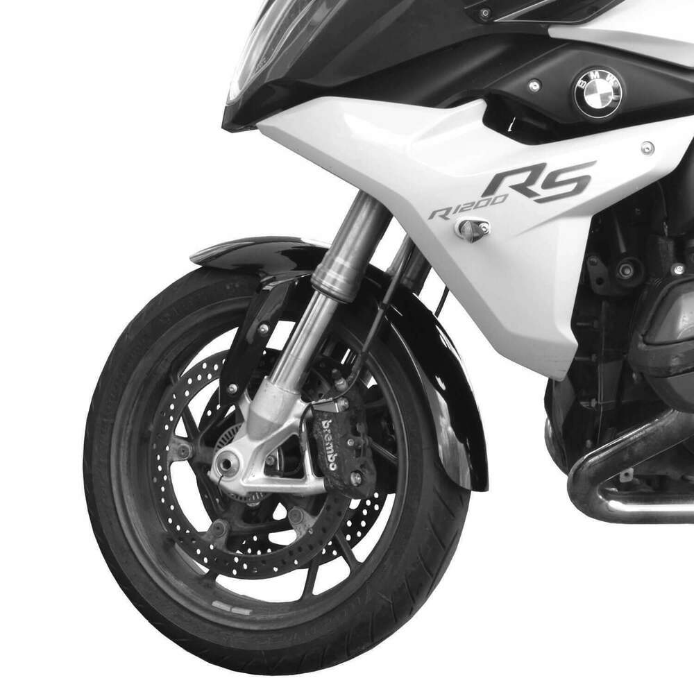 Details About Bmw R1200rs 2016 2019 Gloss Black Extended Front Mudguard Fender 294001b